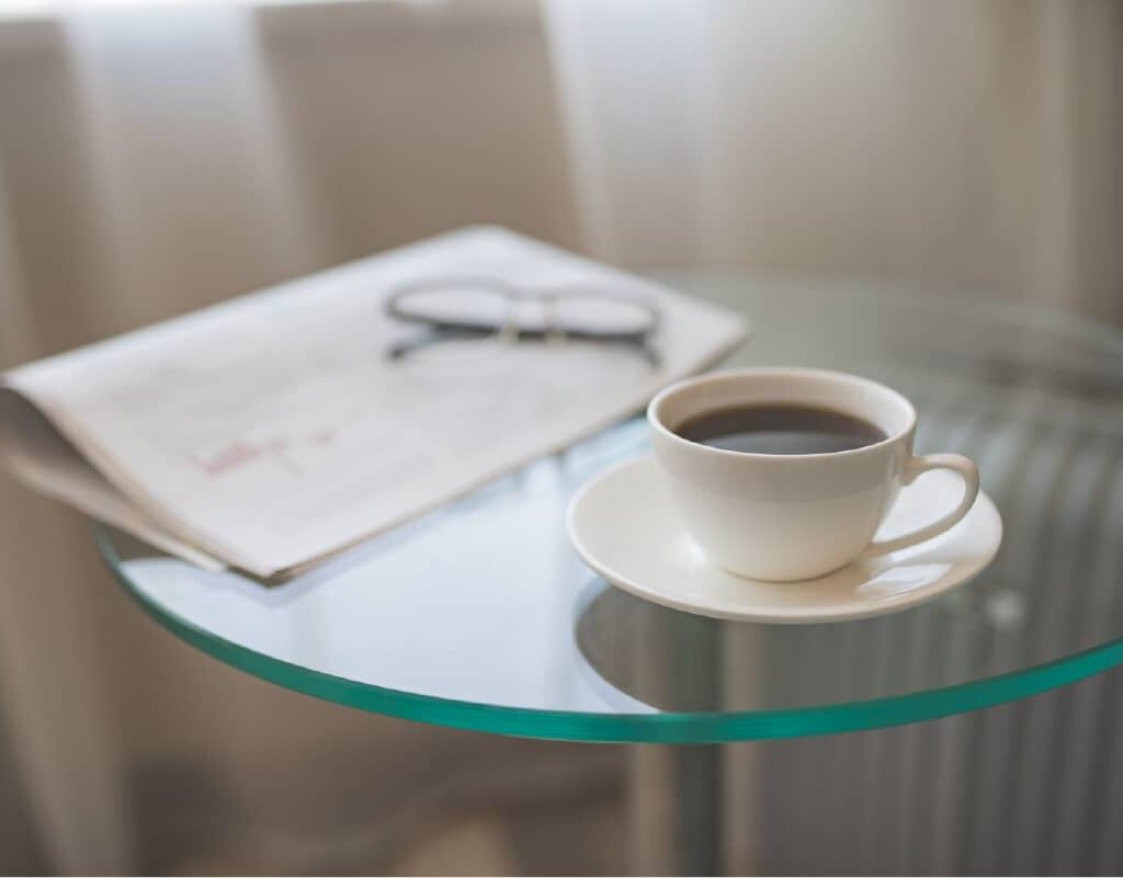 A Cup Of Coffee With A Newspaper Ysqk4mj 100